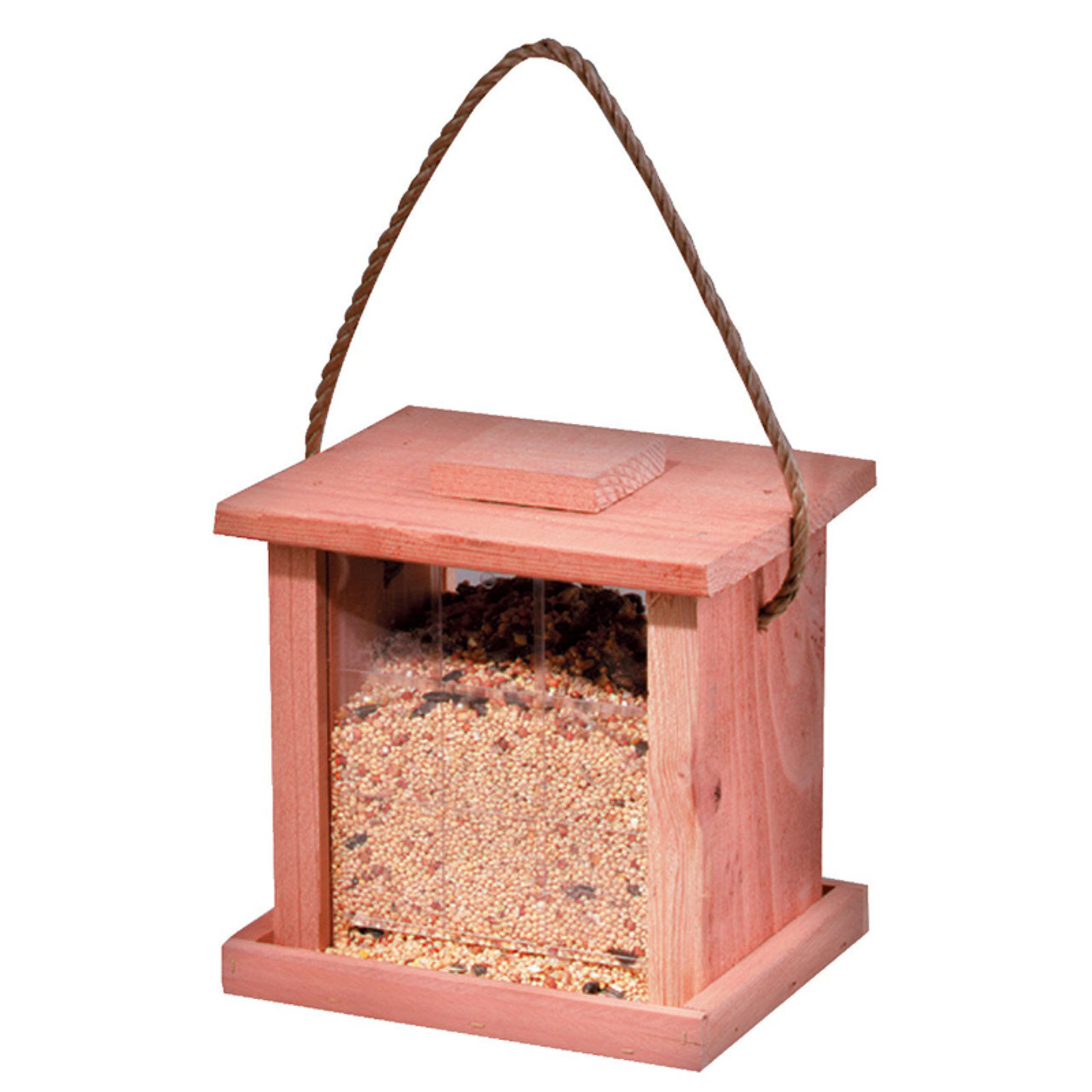 North States 1731 2 Lb Capacity Redwood Hanging Feeder