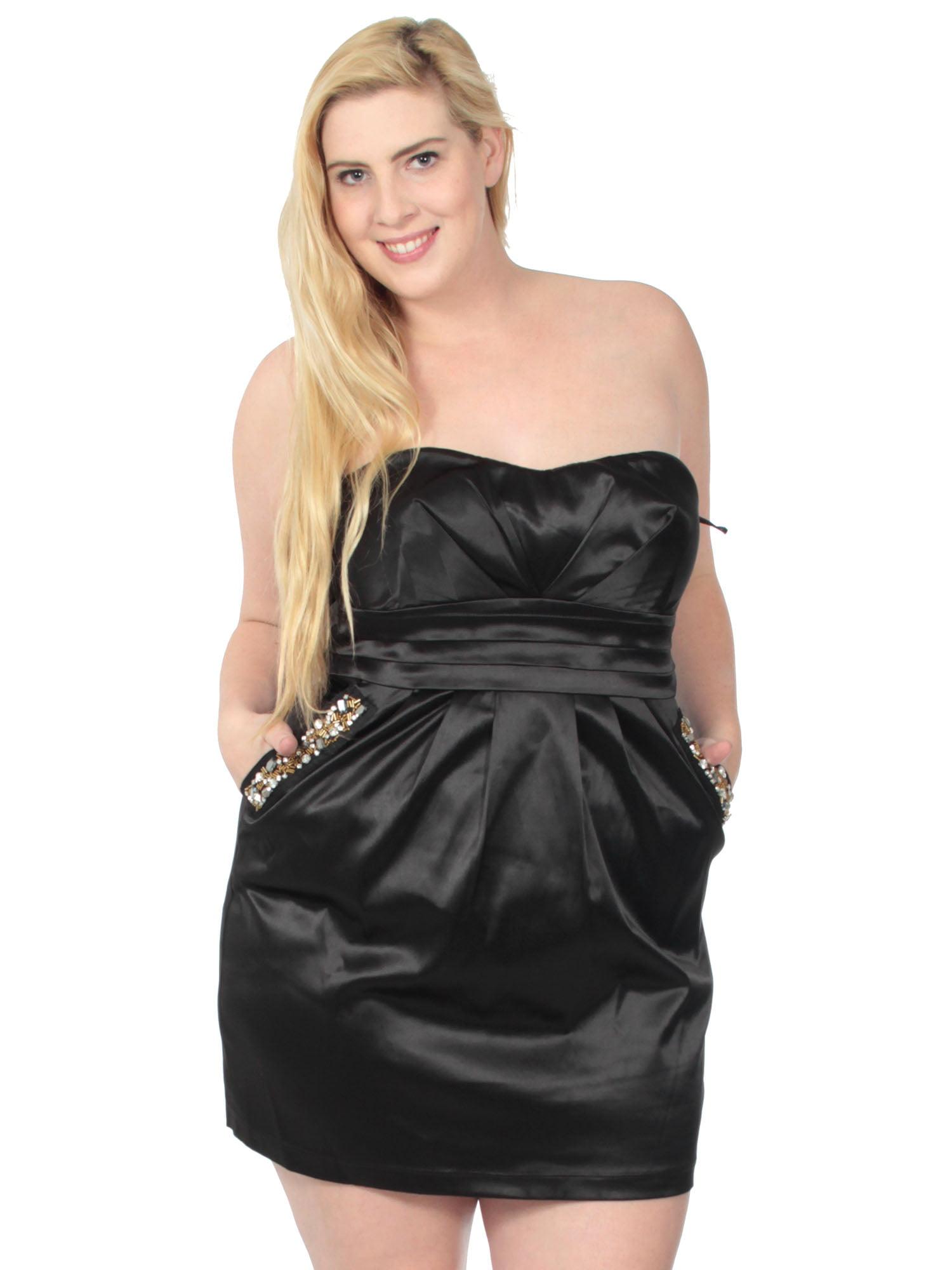 Single Dress Womens Plus Size Sweetheart Neckline Sleeveless Dress