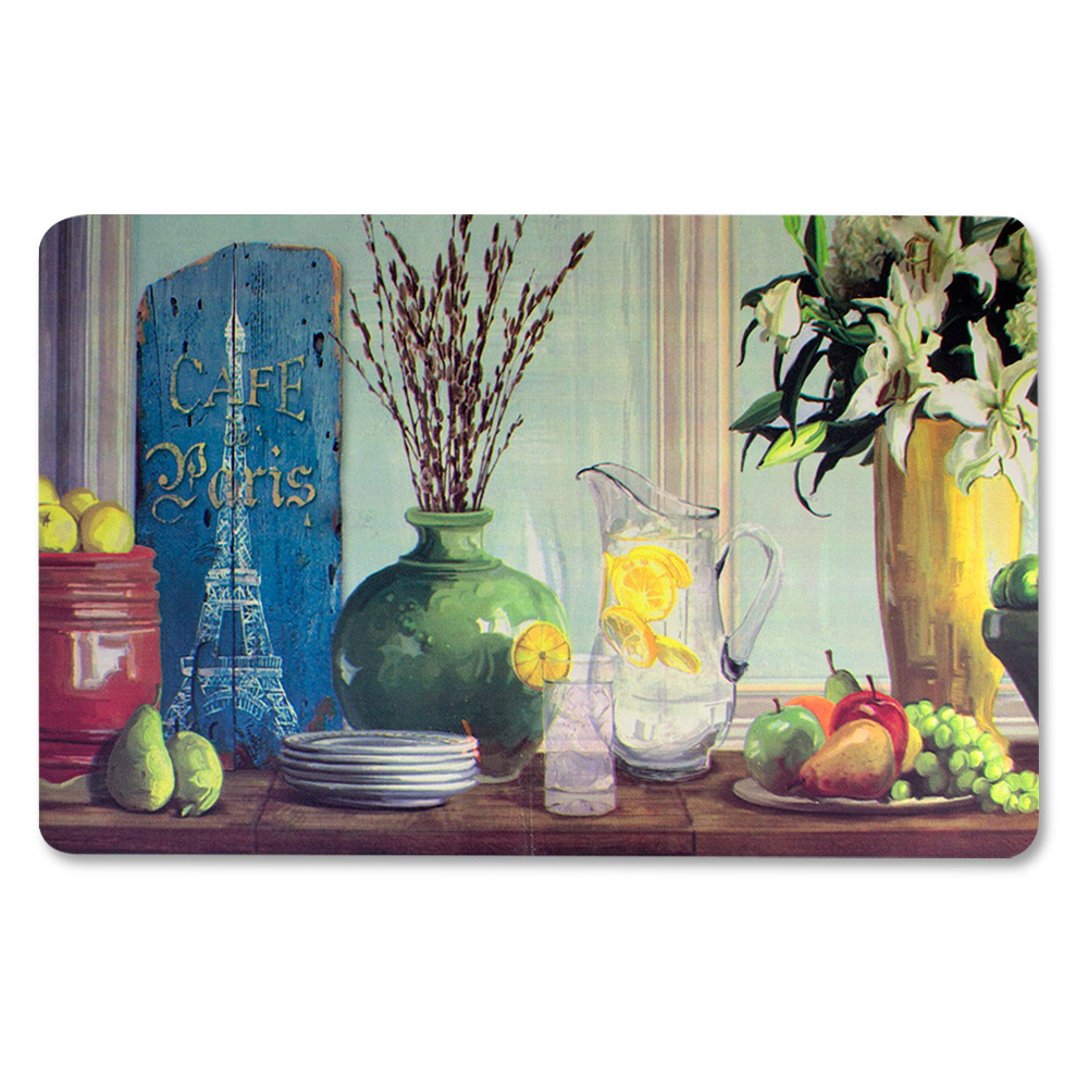 "anti fatigue kitchen floor mat, parisian water jug (18""x30"