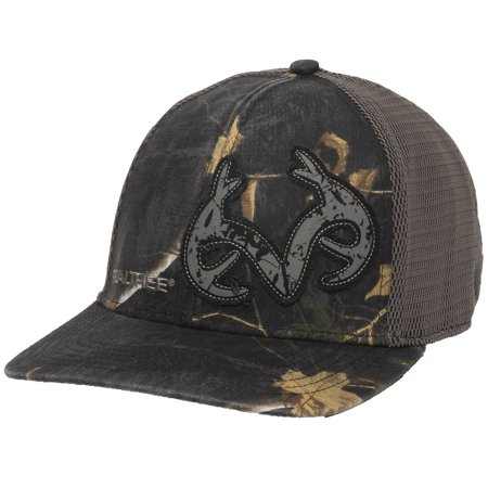 Realtree Xtra Black Camo Stretch Fit Cap; Small / (Medium Burner Cap)