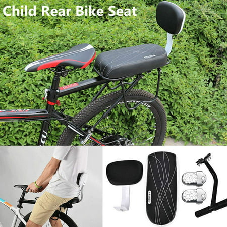 Bicycle Back Seat Bike Bicycle Child Back Rear Seat Cushion Backrest Armrest Footrest Set
