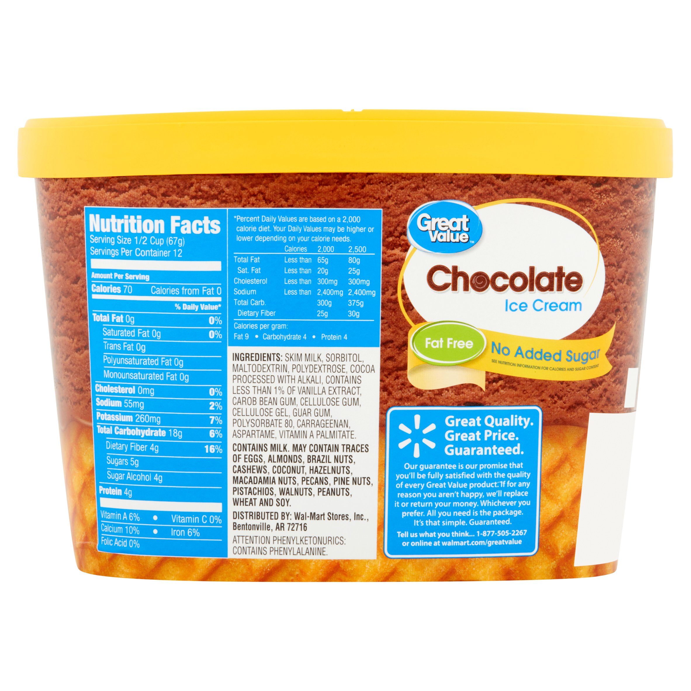 Great Value Chocolate Ice Cream Nutrition Facts