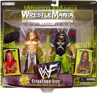WWE Wrestling Wrestlemania 20 Double Slam 2 X-Pac & HHH Triple H Action Figure 2-Pack