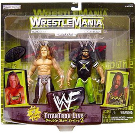 Action Patch (WWE Wrestling Wrestlemania 20 Double Slam 2 X-Pac & HHH Triple H Action Figure 2-Pack )