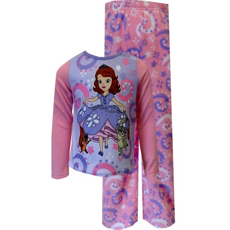 464e07830 Disney Sofia The First Pink Fleece Pajama Set - Walmart.com