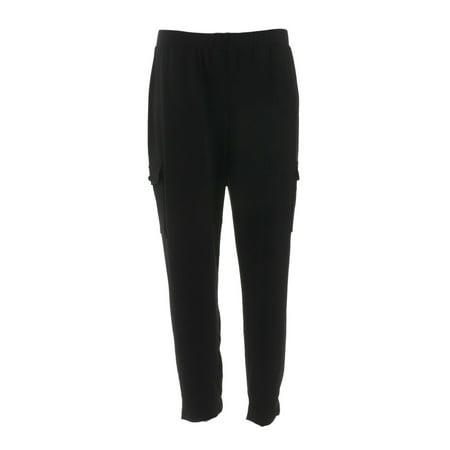 Susan Graver Petite Textured Liquid Knit Cargo Pants A298500