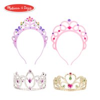 Melissa & Doug Role-Play Collection Crown Jewels Tiaras (Pretend Play, Durable Construction, 4 Dress-Up Tiaras and Crowns)