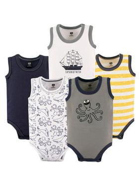0c147babe Product Image Boy Sleeveless Bodysuits, 5-Pack