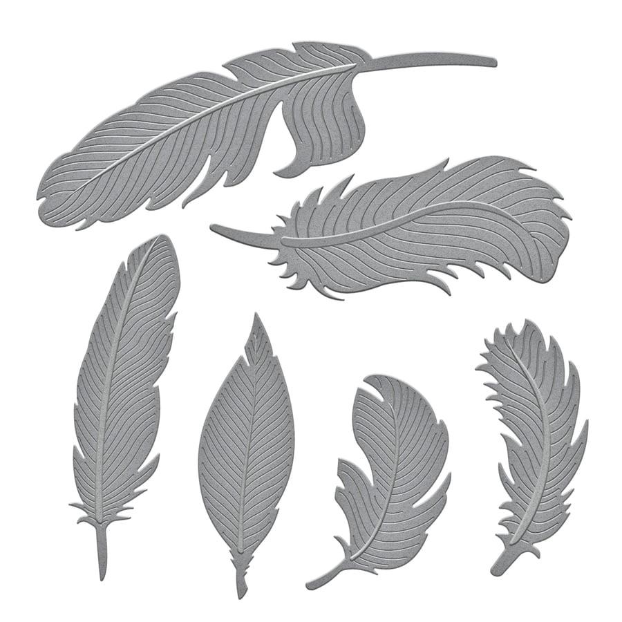 Spellbinders Shapeabilities Etched Dies, Feathers