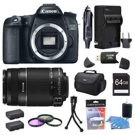 Canon EOS 70D 20.2 MP CMOS (APS-C) Digital SLR Camera And 55-250IS Bundle