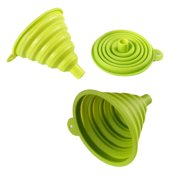Silicone Collapsible Funnel - Folding Foldable Funnel for Liquid Transfer 100% Food Grade Silicones Funnel (Diameter 3 inch, Green)