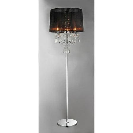 Warehouse of tiffany crystal 583939 floor lamp walmartcom for 3 light crystal floor lamp