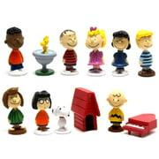 Antsir 12 pcs Peanuts Mini Figures Snoopy Charlie Brown Lucy Franklin Figurines Playset by Antsir