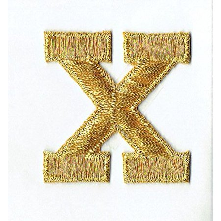 Alphabet Letter - X - Color Gold - 2