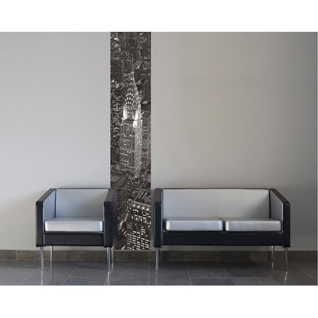 Brewster home fashions euro stripe new york wall mural for Brewster home fashions wall mural