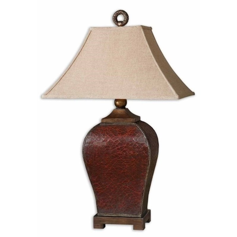 Uttermost Patala Table Lamp in Crackled Deep Red - image 1 of 2
