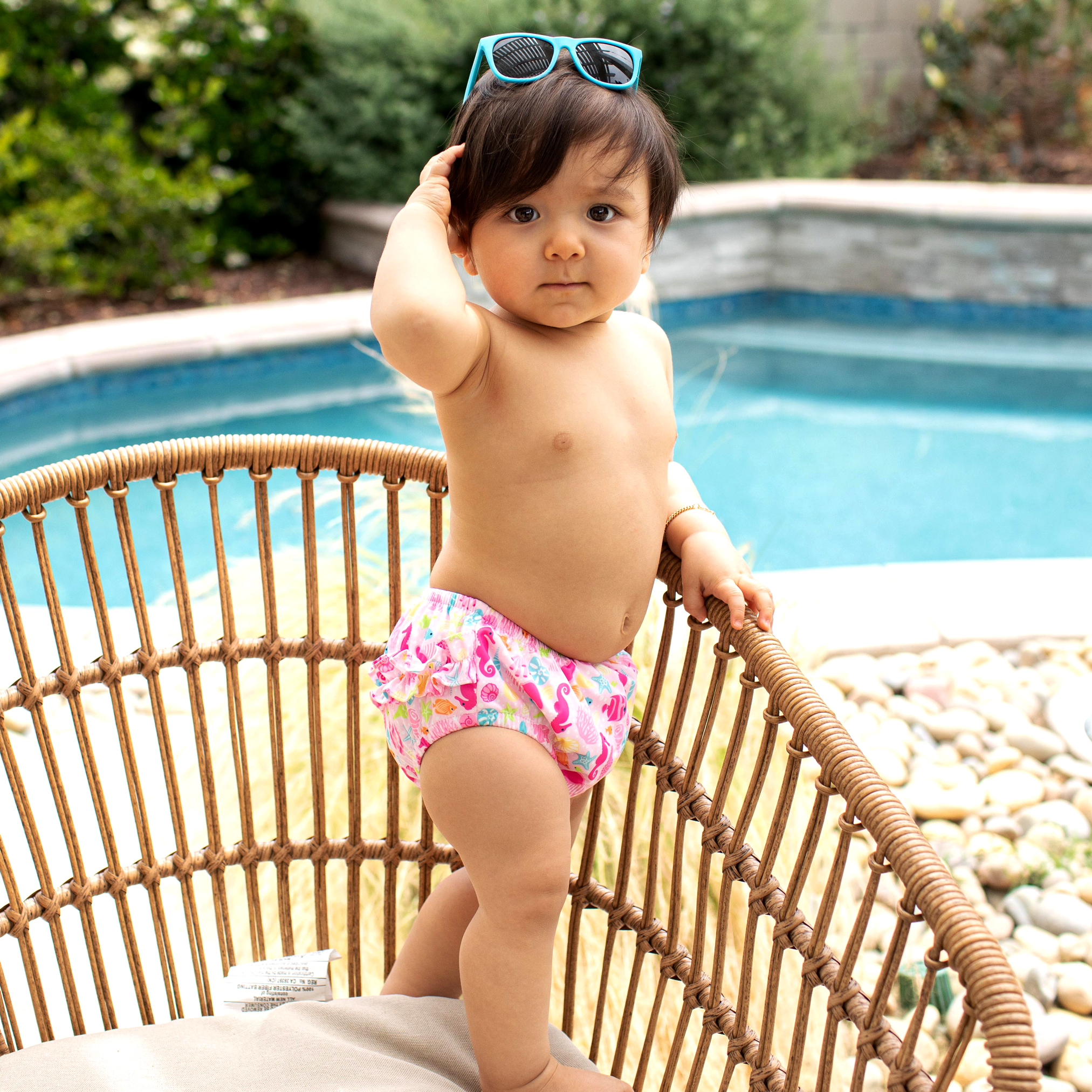 Size:18M, Hot Pink EnjoCho Baby /& Toddler Snap Reusable Absorbent Swimming Nappies Swim Diaper