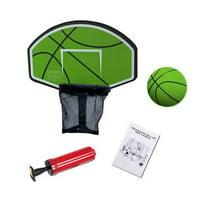 Exacme Trampoline Basketball Hoop Game Play Sport(Green)