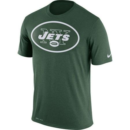 (Nike New York Jets Legend Logo Essential 3 Sideline Practice Logo Short Sleeve Shirt Green)