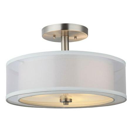 Hardware House El-Dorado 3-Light Semi-Flush Mount Ceiling Fixture - Finish: Satin Nickel Ceiling Light Bracket