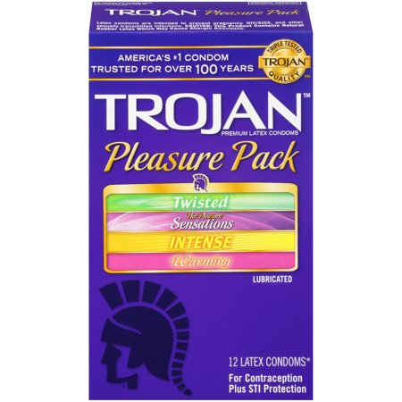 TROJAN Pleasure Pack Condoms, 12 Count