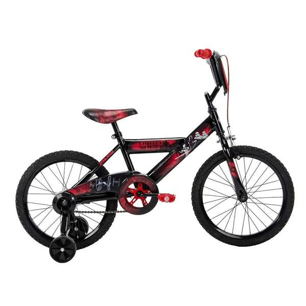 """Star Wars Boys 18"""" Red Bike with Training Wheels, by Huffy by Huffy"""