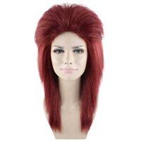 80's Rocker Diva Wig, Dark Auburn Adult HW-1695