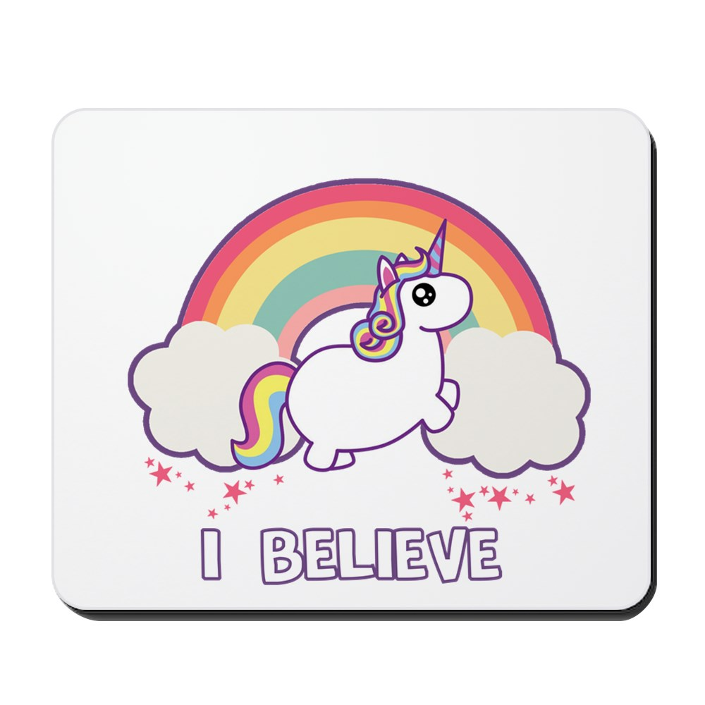 CafePress - I Believe In Unicorns - Non-slip Rubber Mousepad, Gaming Mouse Pad