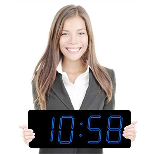 Max Group 118 5 inch Laser Blue Numeral LED Clock