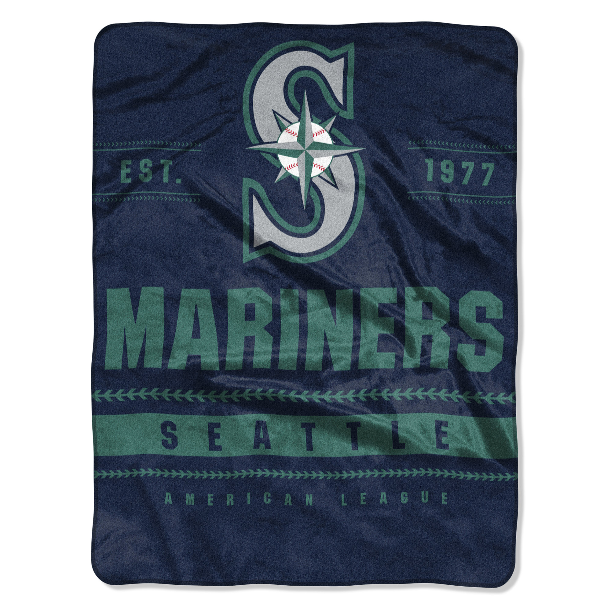 "Seattle Mariners The Northwest Company 60"" x 80"" Backstop Silk Touch Throw Blanket - No Size"