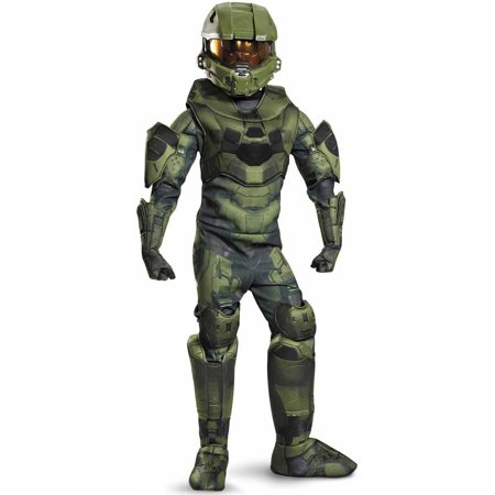 Master Chief Costum (Halo master chief prestige child halloween costume Small)