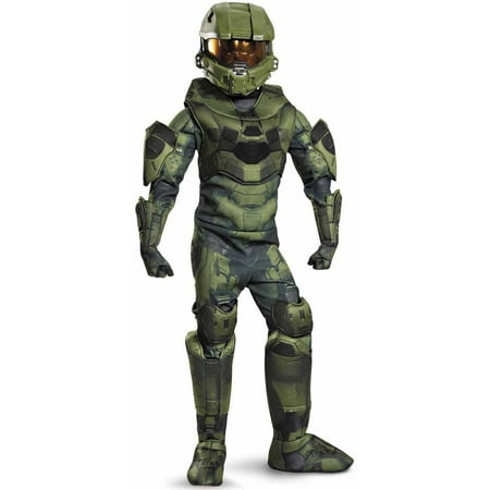 Halo master chief prestige child halloween costume Small (4-6) (Childs Halo Costume)