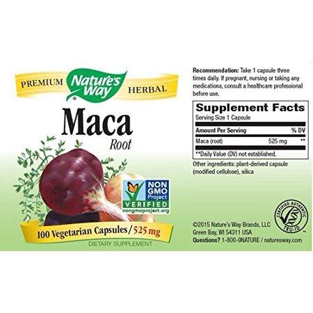 Nature's Way Maca Root Vegetarian Capsules 525 mg 100 ea