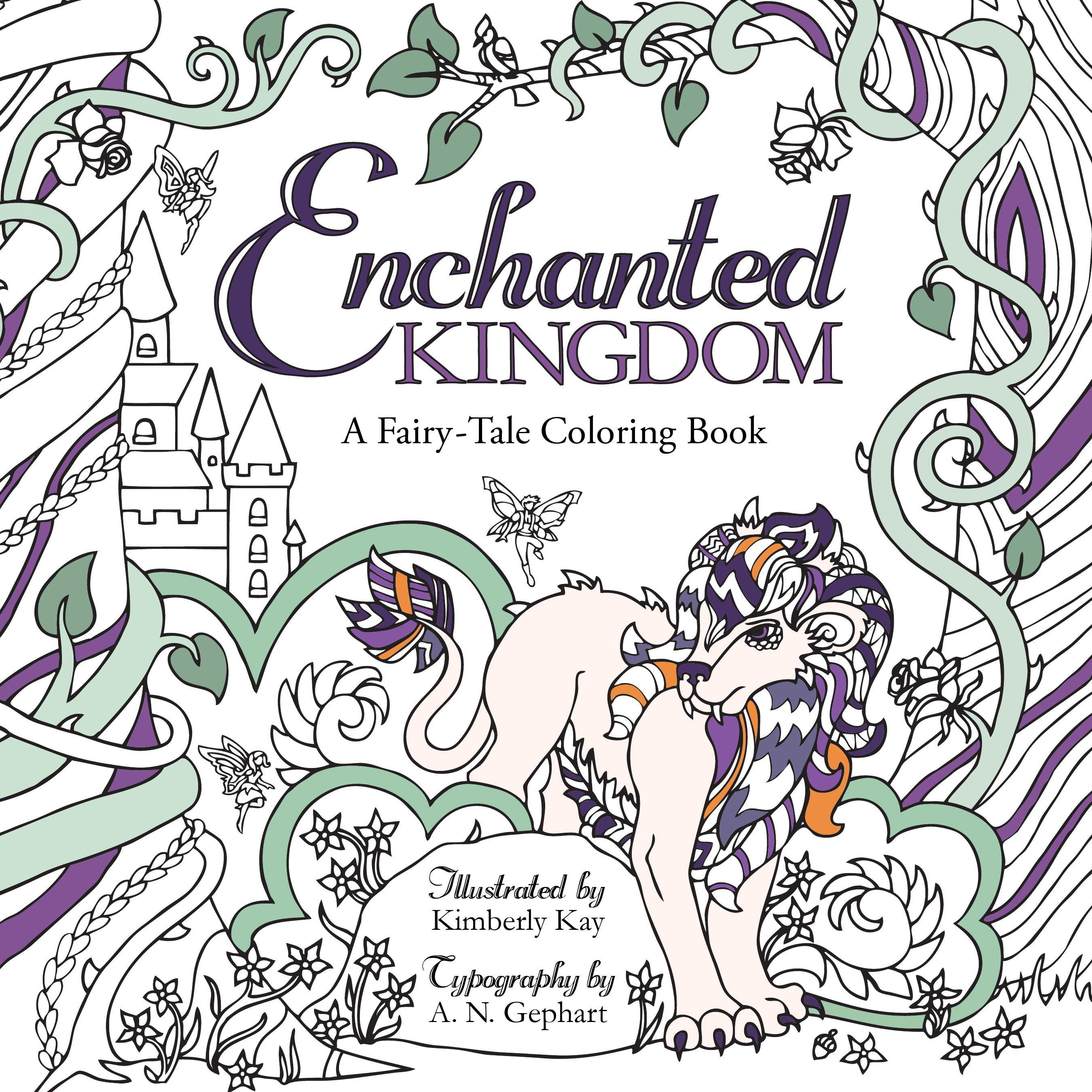 Enchanted Kingdom: A Fairy-Tale Coloring Book (Paperback)