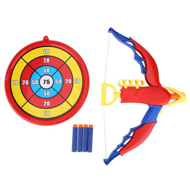 Kids Archery Bow And Arrow Toy Set With Target Toy Archery Set For Kids 3 8 Years Old Eva Soft Bullets With Score Target Bow Arrow Walmart Com Walmart Com