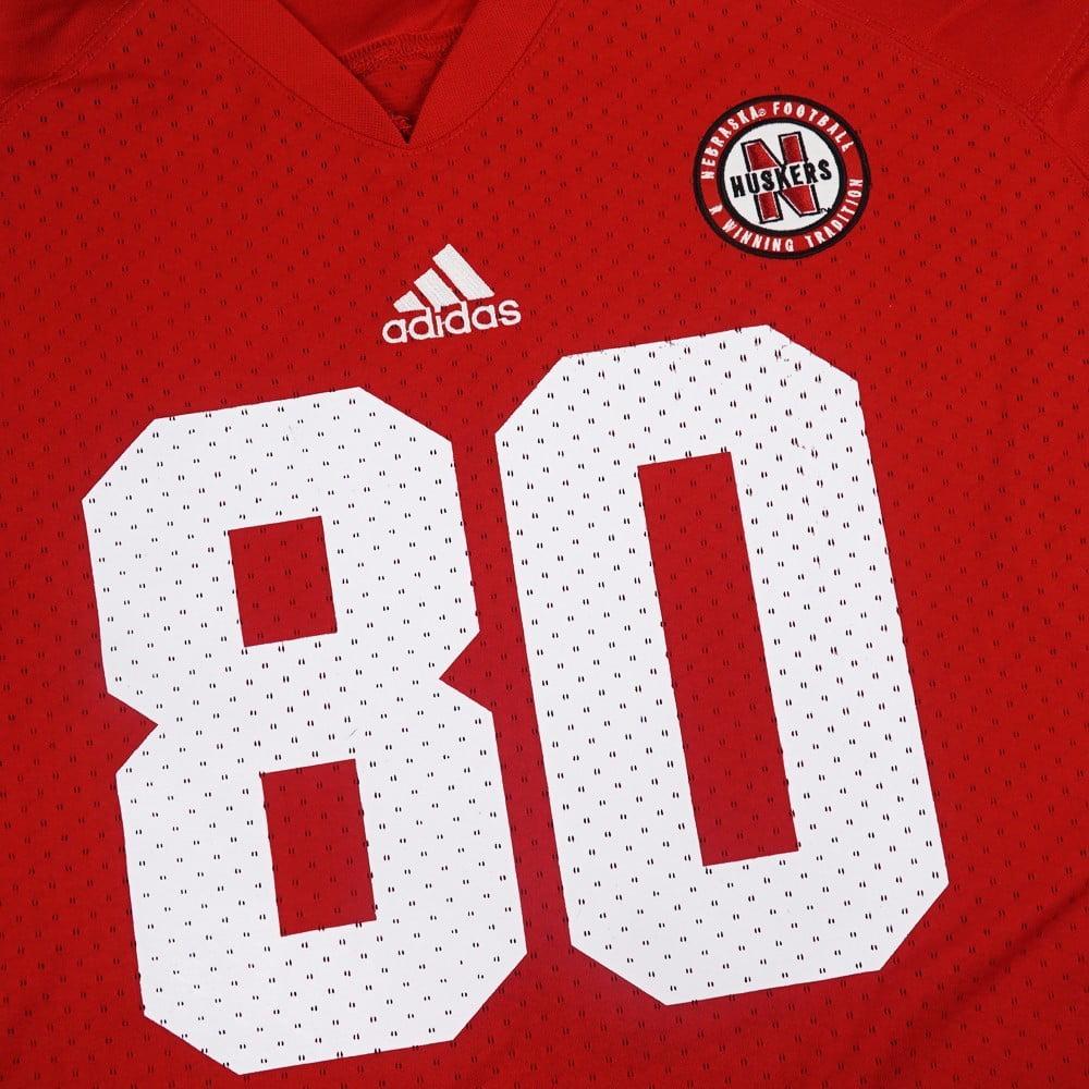 cb52e8cb38c Nebraska Cornhuskers NCAA Adidas Red Official Home  80 Replica ...