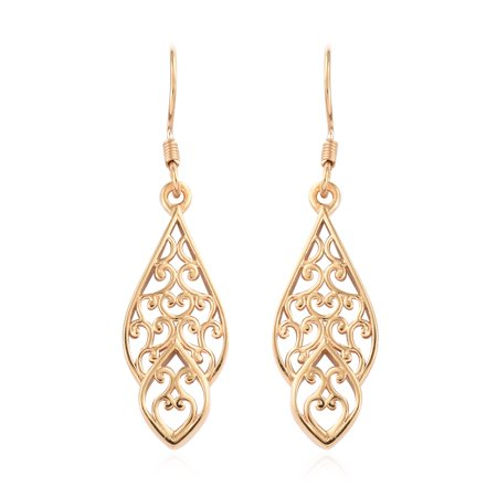 925 Sterling Silver 14K Rose Gold Plated Dangle Drop Earrings for Women Jewelry Gift
