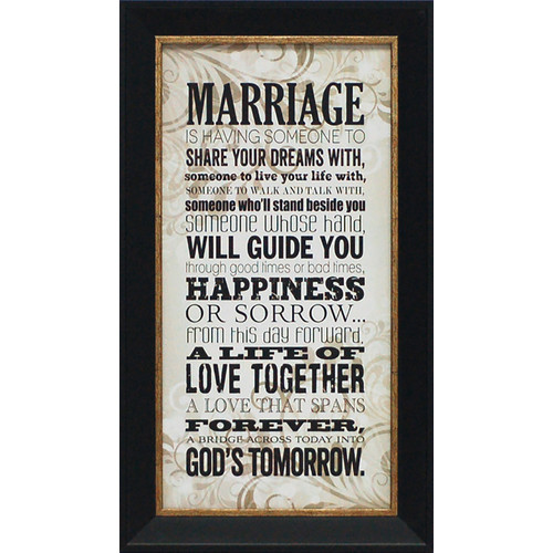 Artistic Reflections Marriage by Tonya Framed Textual Art