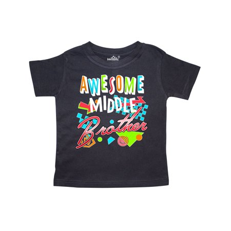 Awesome Middle Brother- 80s retro style Toddler (Retro Toddler Shirts)