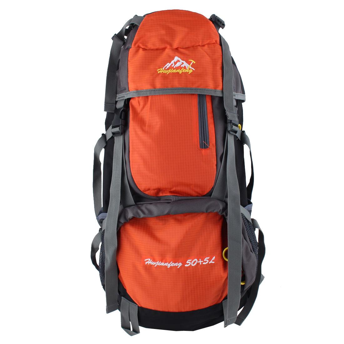 HWJIANFENG Authorized Outdoor Trekking Pack Sport Bag Hiking Backpack Orange 55L
