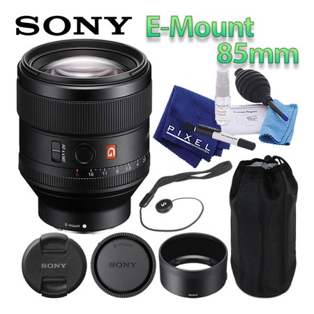 Sony FE 85mm f/1.4 GM Lens Mirrorless E-Mount Best Value Bundle Includes Professional Lens Cleaning Kit, Lens Cap Keeper, Manufacturer Included Accessories, and