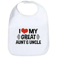 CafePress - I Love My Great Aunt & Uncle Bib - Cute Cloth Baby Bib, Toddler Bib