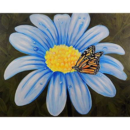 Butterflys Lunch by Ed Capeau 16x12 Art Print Poster   Monarch Butterfly Flower Nature Blue Flower Garden Life Flowers Butterflies POD](Blue Monarch)