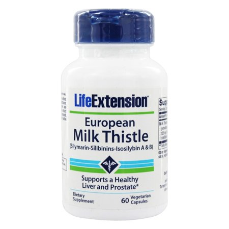 Life Extension - Certified European Milk Thistle 750 mg. - 60 Vegetarian Capsules