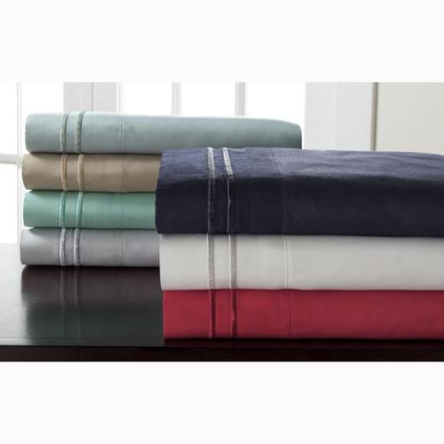 Hotel Collection Double Merrow Sheet Set Twin - Red