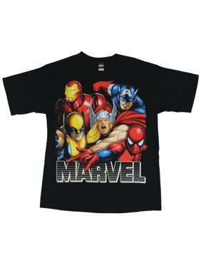 72f8f0c2054f03 Product Image Marvel Comics Mens T-Shirt - Big Headed Airbrushed Colorful  Head Image