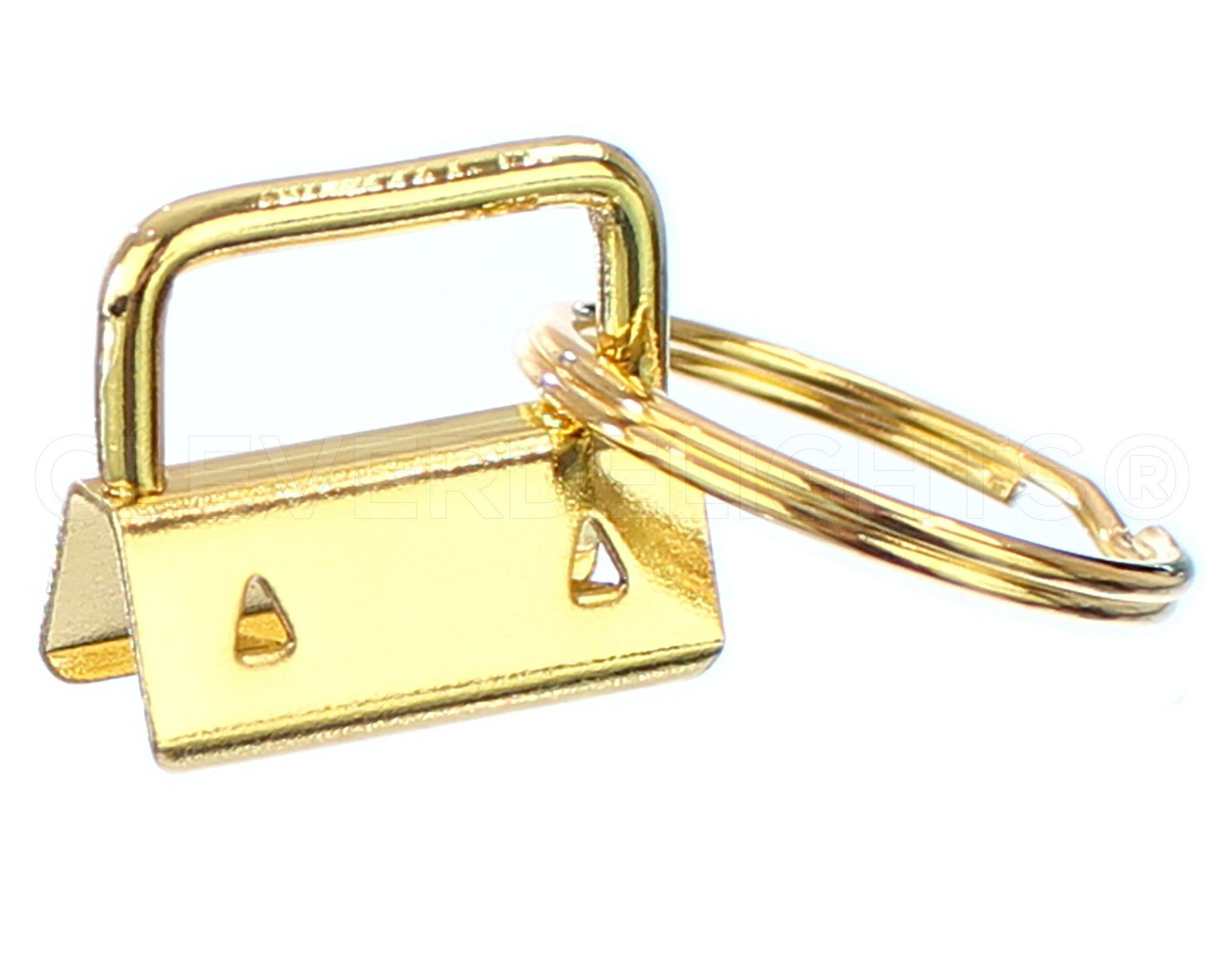 50 Sets Key Fob Hardware KeyRings for Ribbon Key Chains Wristlet Craft Supplies