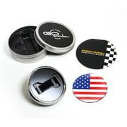 GoBadges Magnetic Grill Badge Holder Starter Kit - Flag Us