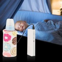 Zaqw USB Baby Bottle Warmer Portable Milk Travel Heater Storage Cover Insulation Thermostat , Milk Bottle Heater, Milk Bottle Heater Cover