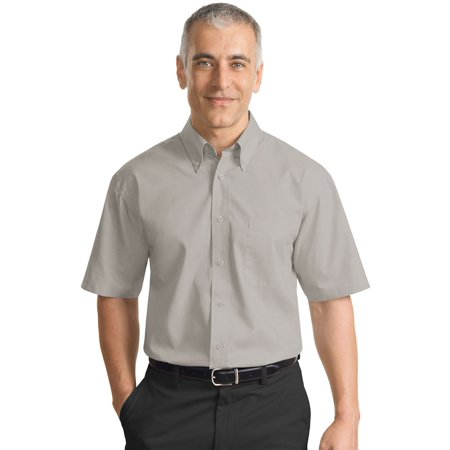 Port Authority Mens Short Sleeve Button Down Collar Shirt